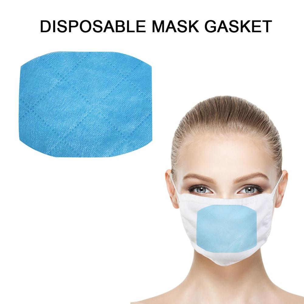 Disposable Mouth Face Mask Replacement Pad Rectangle Masks Gasket Safety Anti Dust Breathable Protective Mask Cotton Mat