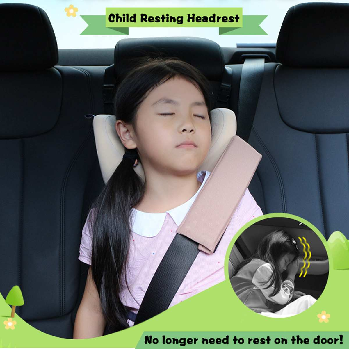 3 - 12 Years Old Child Kid Car Seat Neck Pillow Headrest Sleeping Head Rest Cushion Support Children Nap For Kids Travel Outdoor