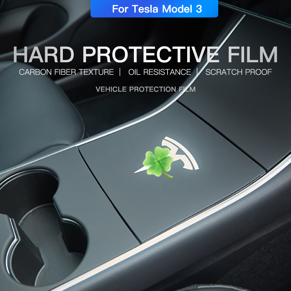 YZ Hard for Tesla Model 3 Center Console Cover Car Sticker for Tesla Model 3 Central Control Cover Model3 Three Hard Protector