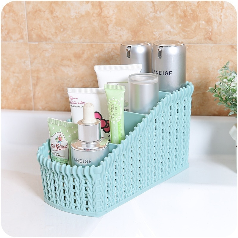 Desktop Sundries Storage Box Makeup Organizer Cosmetic Bathroom Organizer