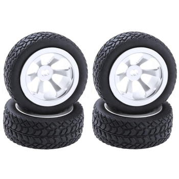 4Pcs RC Upgrade Parts Aluminum Tires and Wheels (Al.) for WLtoys 1/28 RC Car K969 K989 K999 P929 4WD Short Course Drift Off Road mato kingtiger metal upgraded road wheels with bearings and metal cap for 1 16 henglong 3888 1 3888a 1 king tiger rc tank parts
