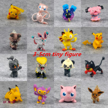 Tomy Pokemon Action Figure Pikachu Charmander Squirtle Bulbasaur Model Monster Battle Figure Litten Meowth Tiny Figure Toys