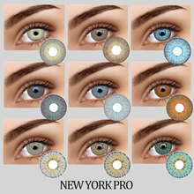 Amazying New Look 5Tones Color Contact Lenses USA Hotsale NEWYORK PRO Series Contact Lenses 100 Cover Deep Eyes Contact Lens cheap fashion on your eyes CN(Origin) 14 5 Two Pieces 0 06-0 15 mm HEMA