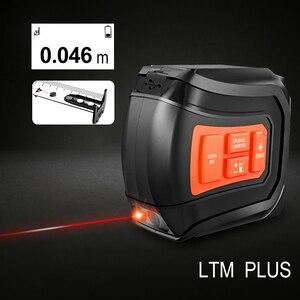 Image 3 - LOMVUM LTM USB Aufladbare Laser Band Laser Abstand Meter Echt Zeit Dada 40/60m Laser entfernungsmesser 5m Band LCD Digital NEUE