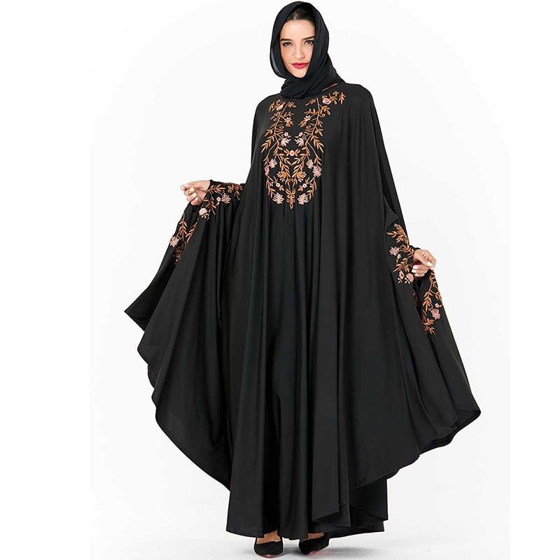 Black Dubai Abaya Hijab Muslim Dress Niqab Turkish Islam Clothing For Women Kaftan Caftan Robe Djelaba Femme Baju Muslim Wanita