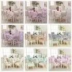 Hoge kwaliteit Europese jacquard Tafelkleed Rechthoekige Eettafel Stoel Cover 1PCS tafelkleed 6 STUKS stoel cover bundel verkoop ALS