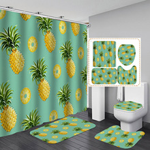 Selling Digital Printing Bathroom Fruit Ananas Rainforest Series Shower Curtain Graphic Customization Bathroom Shower Curtain novelty 3d end of the world digital printing shower curtain for bathroom