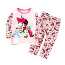 SAILEROAD/детский пижамный комплект с единорогом, пижамы для девочек, хлопковые детские пижамы, одежда для сна для мальчиков, Детская Пижама, ночная одежда, костюмы