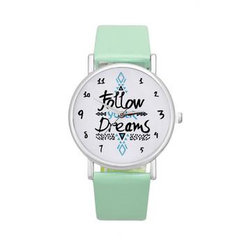 Marka moda podążaj za strzałką zegarek damski zegarek na co dzień skórzany zegarek w stylu Vintage zegarek z paskiem tanie i dobre opinie Podwójne wyświetlanie Klamerka z zapięciem NZ (pochodzenie) Drewniane 3Bar DRESS 18mm 24cm 38mm follow Women WATCH 34mm