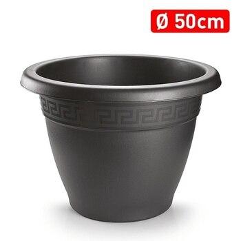 Macetero rendondo 50 cm plastico 50 cm Negro