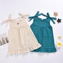 Girls Dress Toddler Baby Girls Casual Ruffle Princess Pocket Dress Sundress Outfits Summer Dress Girls Clothes vestidos платье girls ruffle detail striped dress