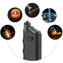цена на Portable Lighter Flameless Windproof Electric Lighter Telescopic Rod USB Charging Lighter Metal Cigarette Lighter