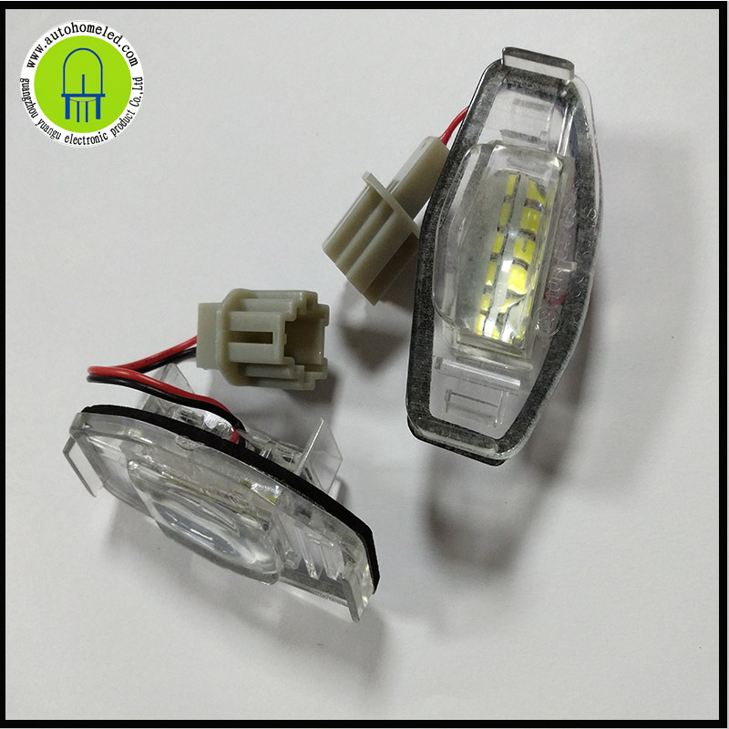 2pcs Direct Fit White LED For <font><b>Acura</b></font> TL <font><b>TSX</b></font> Honda Civic Accord Odyssey License Plate Light Lamps image