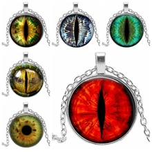 2019 New Fashion Longan Pendant Personality Eyes Jewelry Glass Cabochon Necklace Mens Chain Retro Pendant...