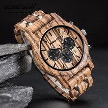 Relojes de hombre DODO DEER Men's Wood Watch Stainless Steel