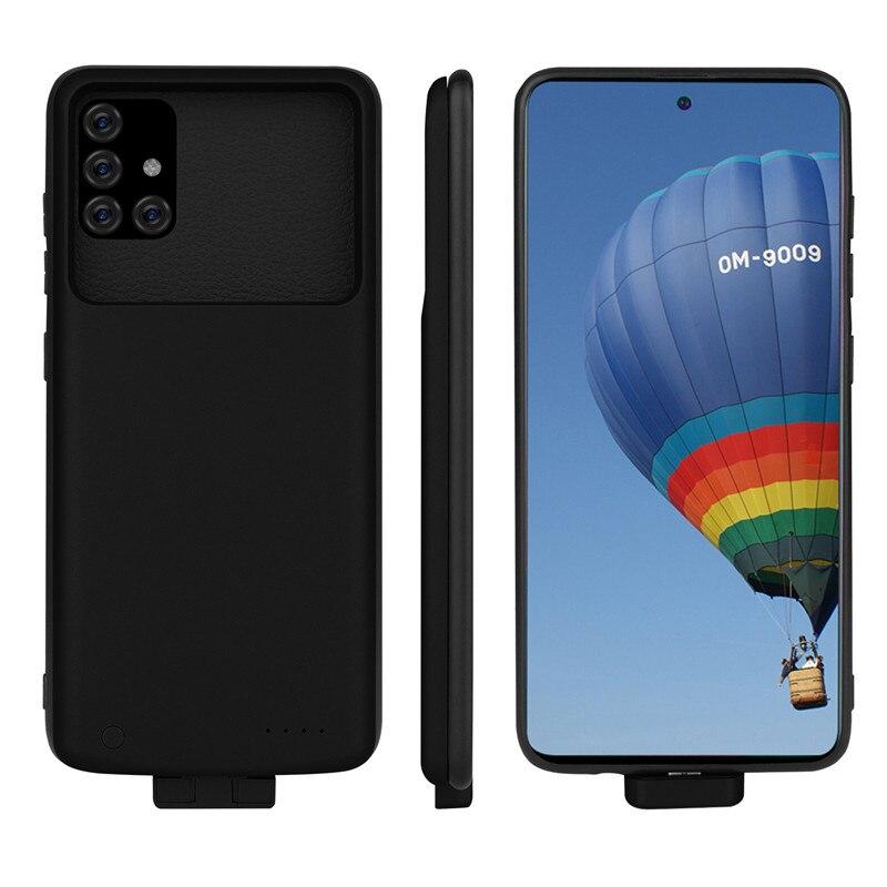 Funda de cargador de batería de 5000mAh para Samsung Galaxy A51 A71 funda delgada de silicona a prueba de golpes para teléfono