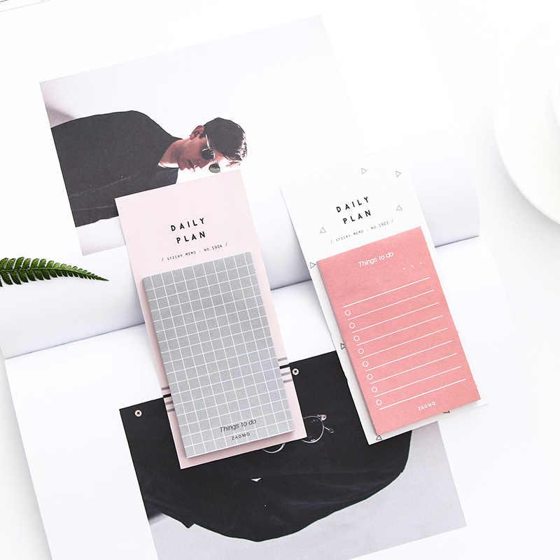 50 folhas/pces criativo pegajoso notas kawaii memorando almofada adesivos de papel simples estudante papelaria presentes escola material de escritório