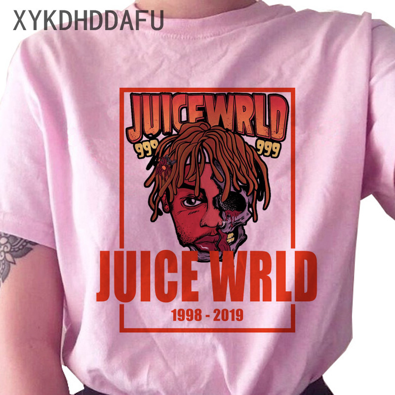 H68d2b38052e74948b1e19e880b2cf66d1 - Juice Wrld T Shirt Women R.I.P Hip Hop Rapper Streetwear Tshirt Print Clothing Female Casual Ulzzang Graphic T-shirt Top Tees