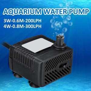 AC 110V 220V 3W 4W Waterproof Submersible Water Pump Aquarium Fountain Air Fish Pond Tank 1pcs
