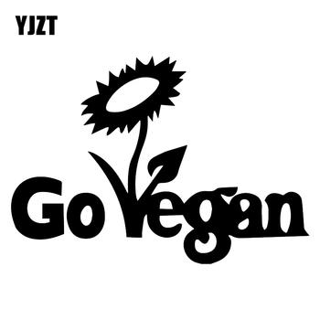 YJZT 16,8X11,7 CM ir pegatina de vinilo vegana para coche calcomanías decorativas impermeables de arañazos C25-0698
