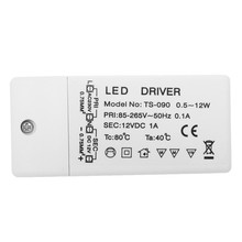 New 85-265V To 12V Led Driver Power Supply Ts-090 Durable Voltage Transformer for Mr16 Mr11 Portable Power Converter(China)