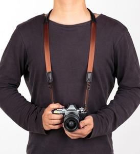 Image 5 - מקורי אמיתי עור + חגורה בעבודת יד מצלמה רצועת כתף צוואר חגורת עבור Canon/ניקון/סוני/פנסוניק/sigma/אולימפוס/פוג י