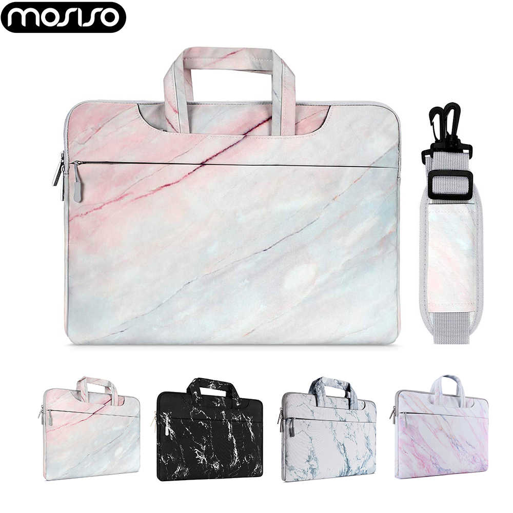 "Mosiso Laptop Sleeve Case Tas untuk Macbook Udara Pro Retina 13 15 Touch Bar Notebook Marmer Cover Tas 13"" 13.3 ""14"" 15.6"""