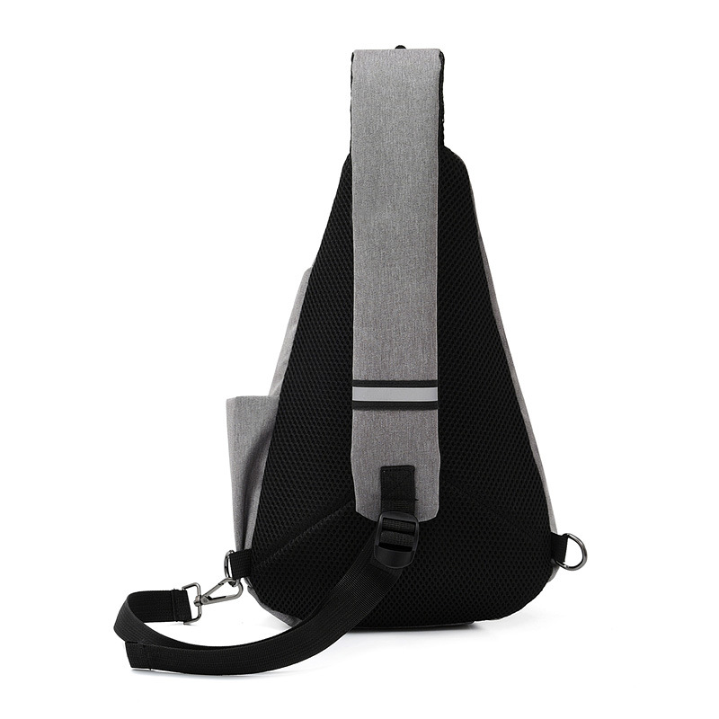 New Style Men Chest Pack Cool Sports Shoulder Bag Fashion Korean-style Waterproof Oxford Cloth Women's Oblique Bag