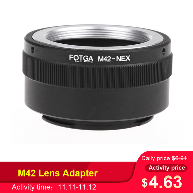 Fotga M42 Lens Adapter Ring Adapter Ring for Sony NEX E mount NEX NEX3 NEX5n NEX5t A7 A6000