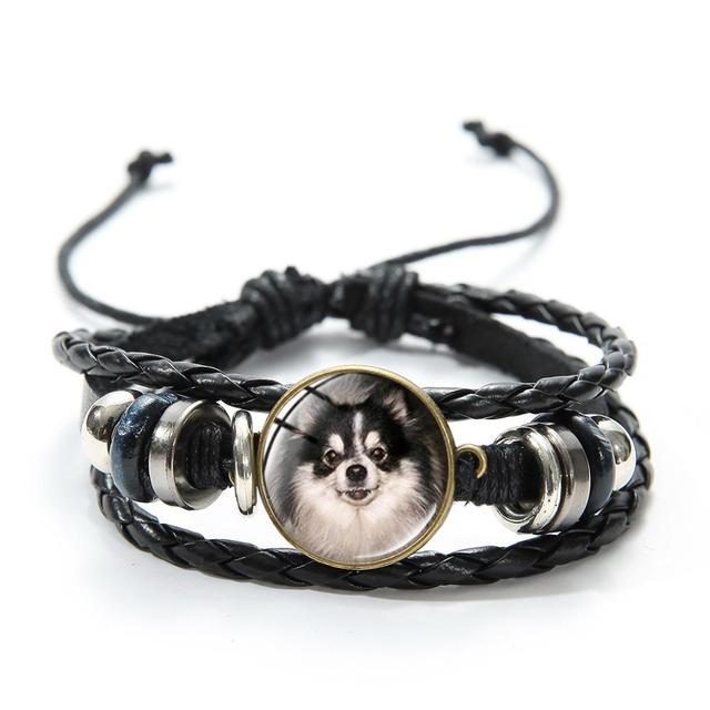 Casual Dog Patterned Glass Bracelet