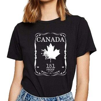Camiseta de algodón con inscripción de cómic a prueba de 151 para mujer de Canadá