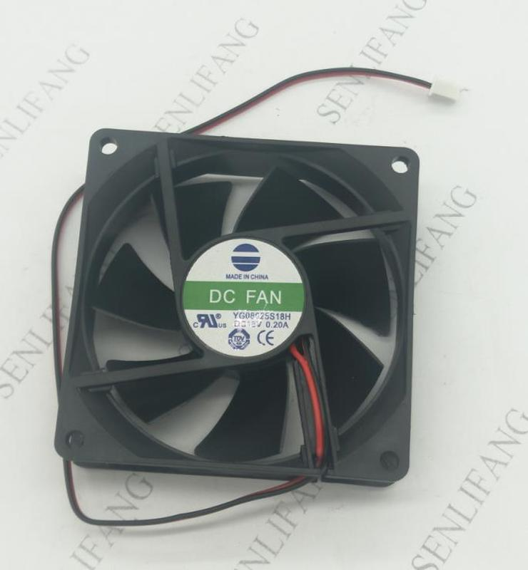 Free Delivery.YG08025S18H 18V 0.20A 8CM 8025 Drying Machine Cooling Fan 80 * 80 * 25MM One Year Warranty