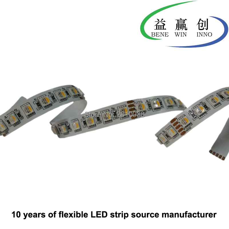 100M/Lot DC24V 72leds/M 5050RGBW led light strip high cri 80+ 4 in 1 flexible led strip 12mm wide led strip light 23W/M led tape