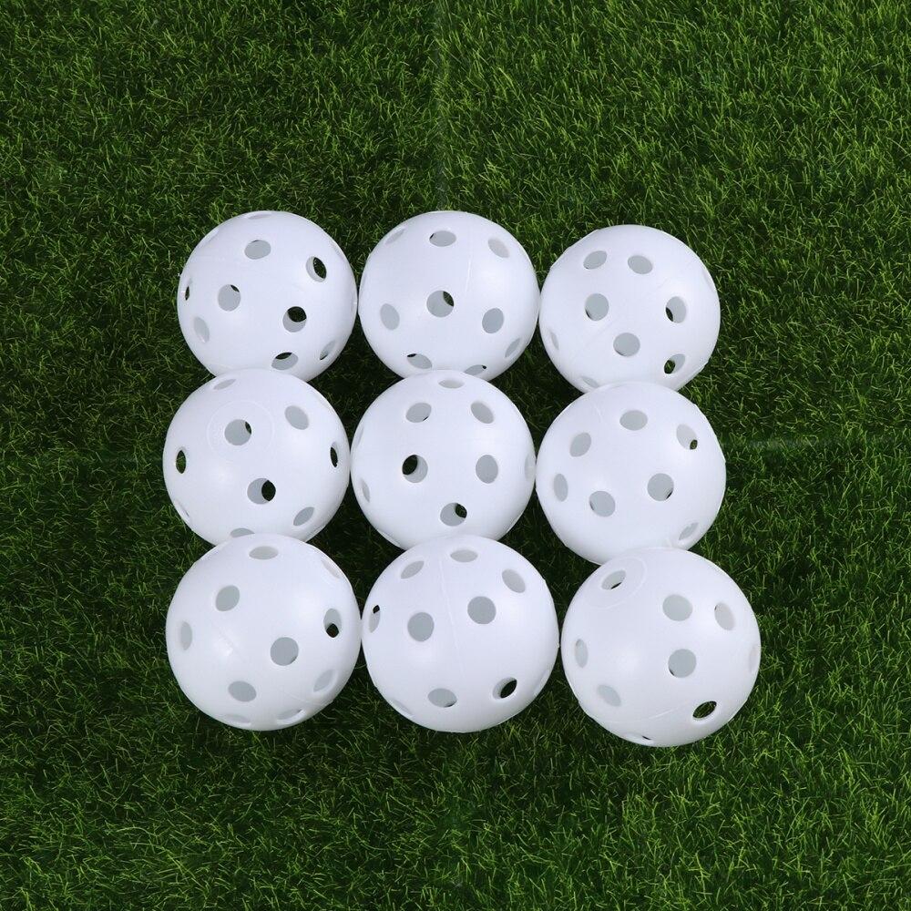 24pcs Air Flow Hollow Balls for Practice (White)