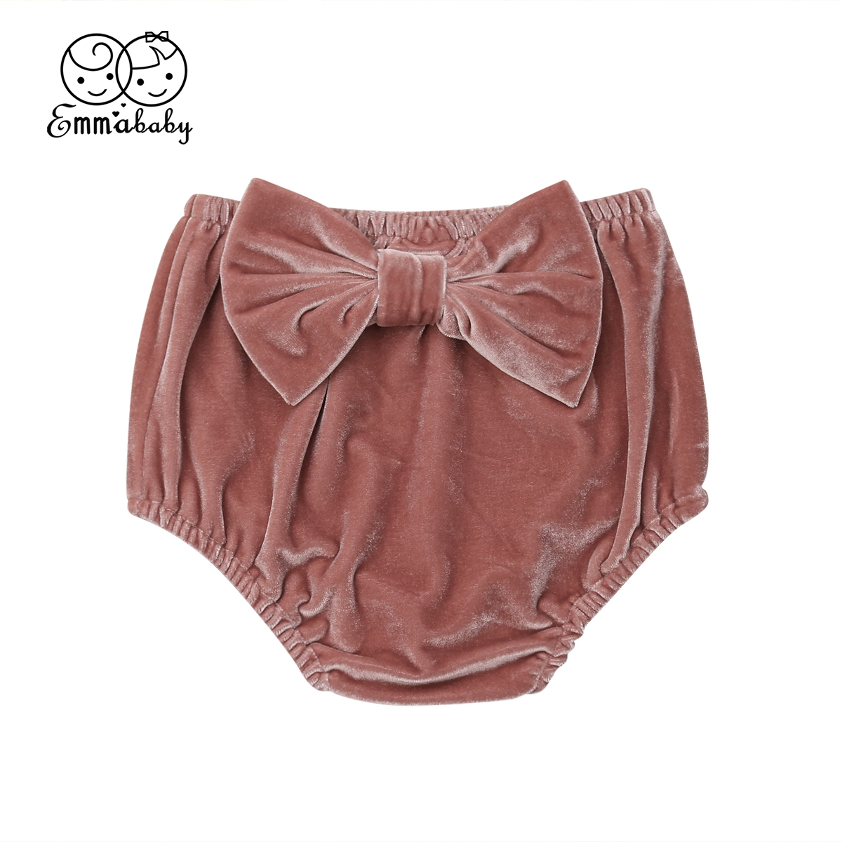 Kids Baby Girl Velvet Bottoms Bloomer Casual Diaper Cover Panties PP Shorts Baby Girl Clothes Bowknot Solid High Waist Shorts