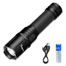Supfire J6 Tactical Lotus-head Flashlight Rechargeable 4 Modes 270 Lumens Cree LED Waterproof Torch