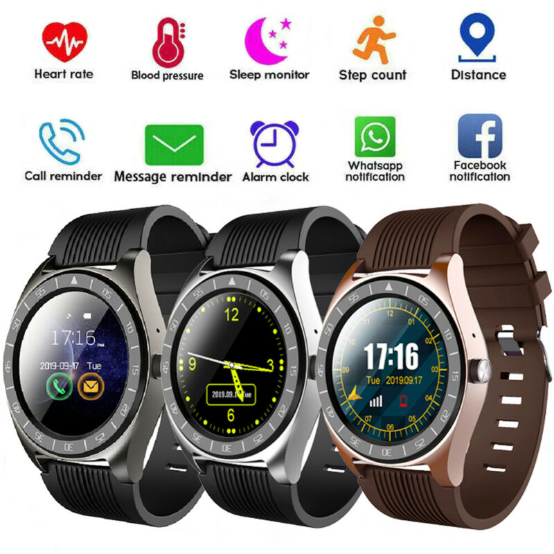 Men Smart Watch Bluetooth Heart Rate Blood Pressure Fitness Activity Tracker for iOS&Android Sports