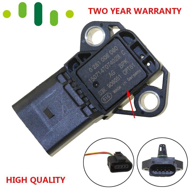 4 バーインテークマニホールドブースト圧 Map センサー Drucksensor VW アウディシートシュコダのため 1.4 2.0 TDI 03K906051 0281006059 0281006060