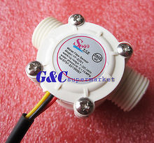 цена на Water flow sensor flowmeter Hall flow sensor Water control DN15 1-30L/min diy electronics