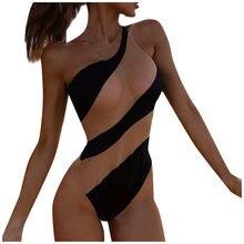 2020 Donne Sexy di Un Pezzo del Bikini A Vita Alta Push-up Imbottito Sheer Mesh Costume Da Bagno Costume Da Bagno Costumi Da Bagno Beachwear Monokini biquini # Y4