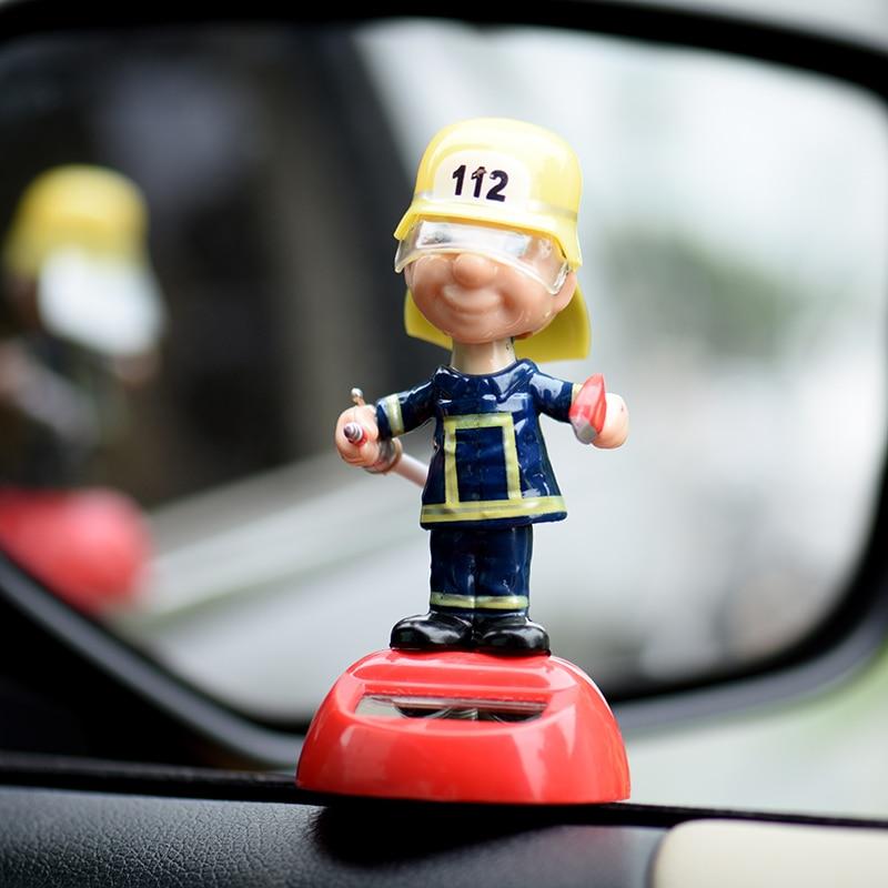 Забавный пожарный маленькая кукла украшение автомобиля интерьер приборной панели украшение автомобильные аксессуары подарок на день рожд...