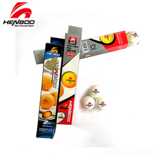 HENBOO 2-Star 6 pcs/lot Table Tennis Balls Ping Pong ( New Material Seamed ABS Balls) Plastic Poly