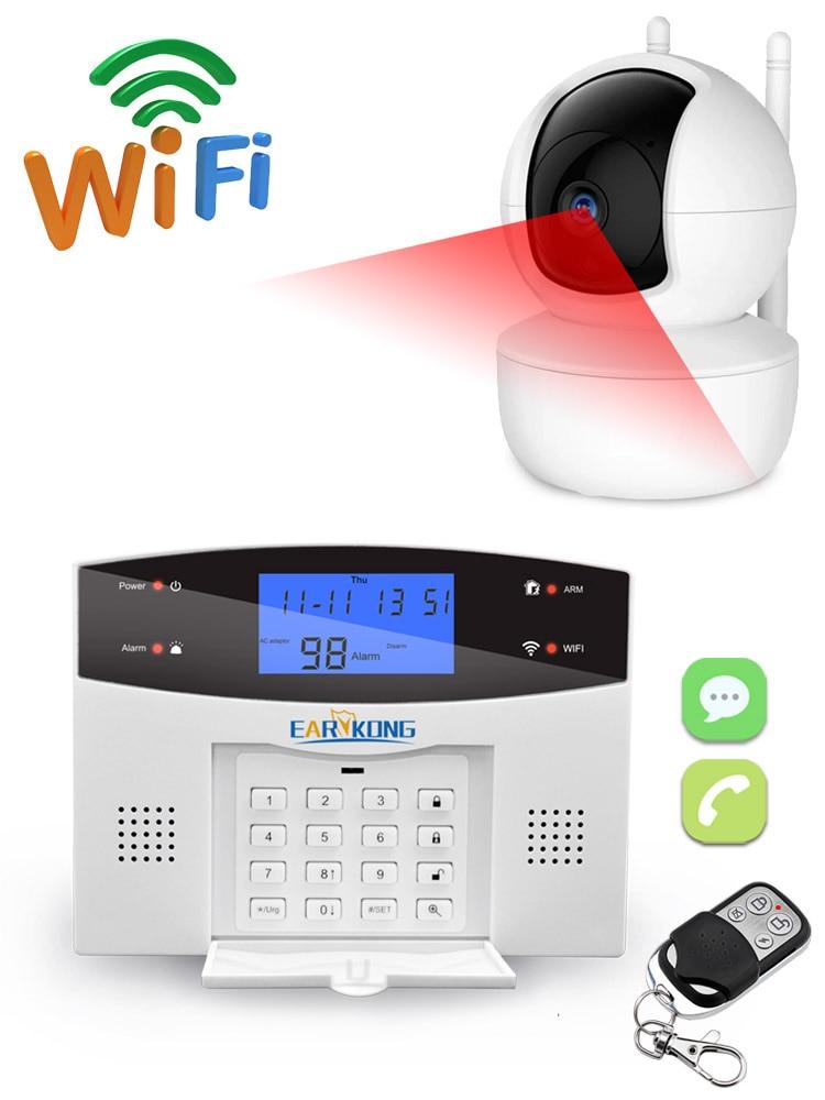 Detectors-Alarm Alarm-System Smart-Home-Relay WIFI GSM France/italian Wireless PSTN Output-App