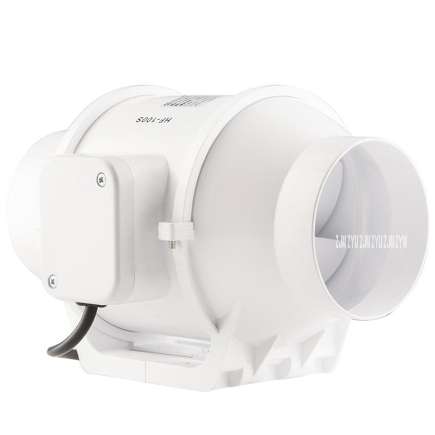 HF-100S Household 4 Inch Exhaust Fan Bathroom Ventilating Fan Silent Ventilator Round Fan Extractor Supercharge Pipeline Blower