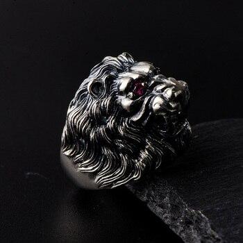 Bague argent lion