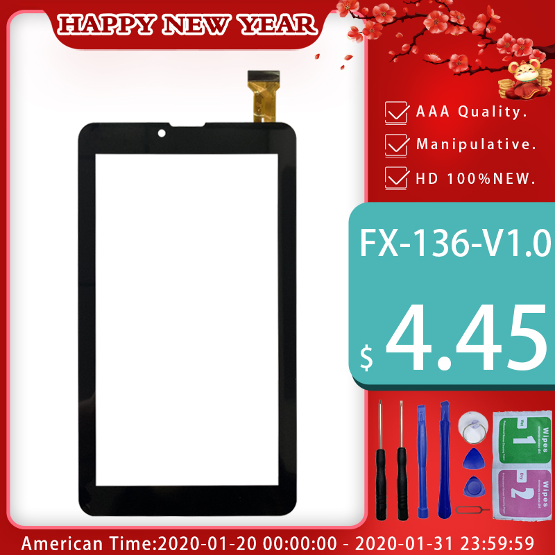 New 7'' Inch 184*104mm Tablet Capacitive Touch Screen Replacement For FX-136-V1.0 Digitizer External Screen Sensor Free Shipping