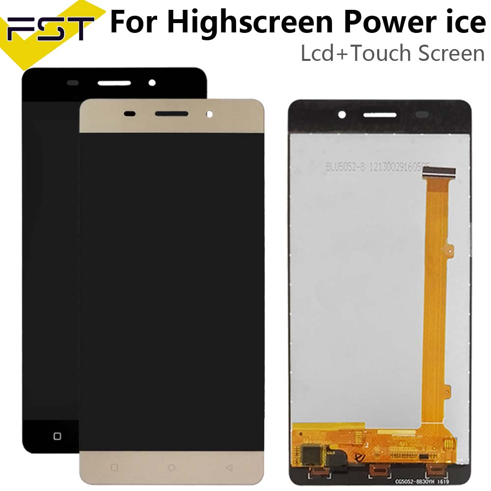 5.0''Black/Gold For Highscreen Power ice Lcd screen Display with Touch Panel Digitizer Assembly Spare Parts+Tools