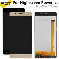 5.0''Black/Gold For Highscreen Power ice Lcd screen Display with Touch Panel Digitizer Assembly Spare Parts+Tools|Mobile Phone LCD Screens| |  -
