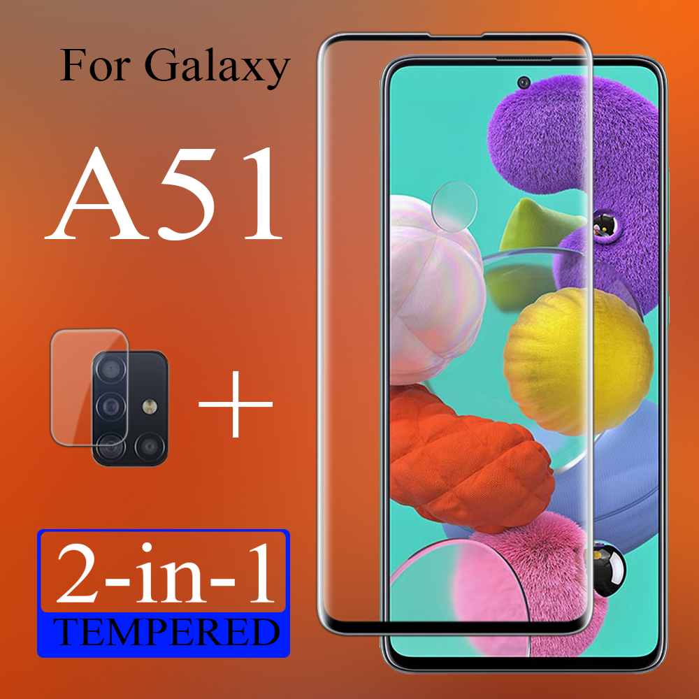 2in1 Protective Case On For Samsung Galaxy A51 A 51 Galaxya51with Camera Glass Lens Cam Protection Sansumga51 Glas 51a Cover