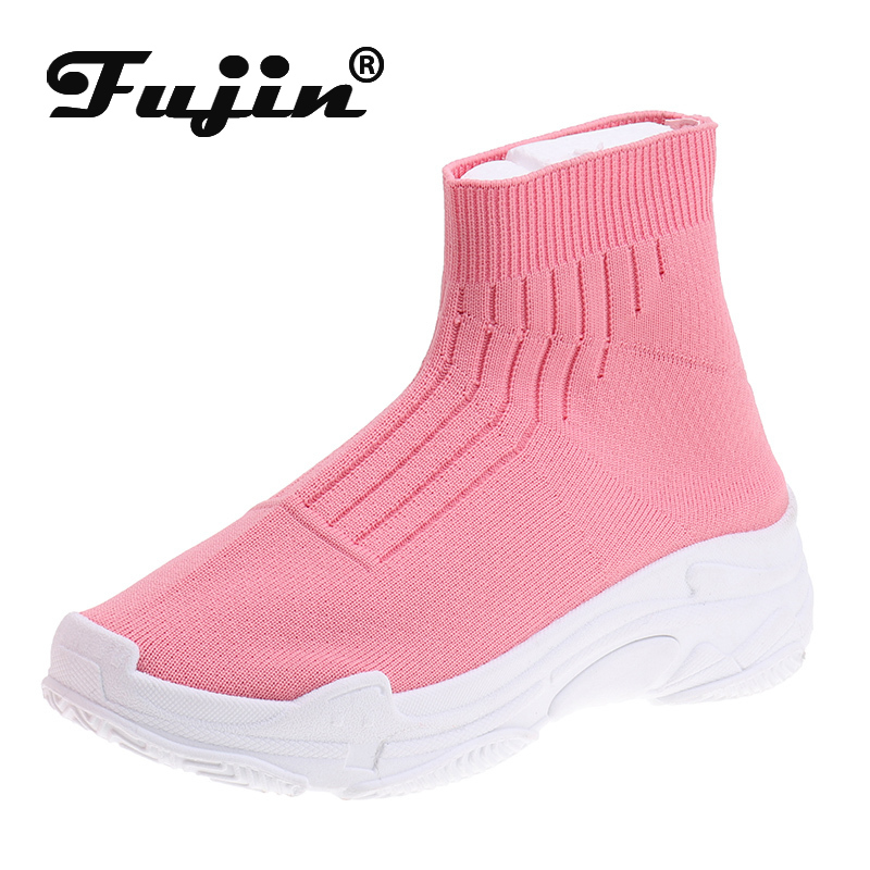 Fujin Flying Woven Boots Dropshipping Female Korean Version Of Socks Shoes 2019 Summer New Flat Student Leisure Mesh Boots